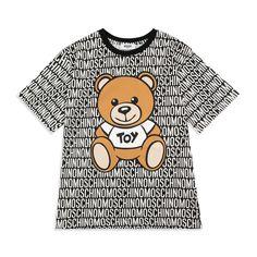 c6ab3a1803ef Boys Teddy Bear T-Shirt - Black by Moschino