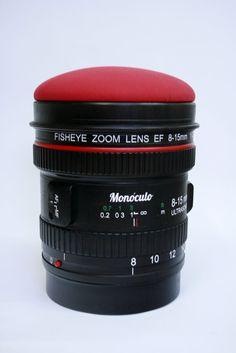 Reflex lens stool DSRL Paparazzi stool lens stool by MonoculoShop, €580.00