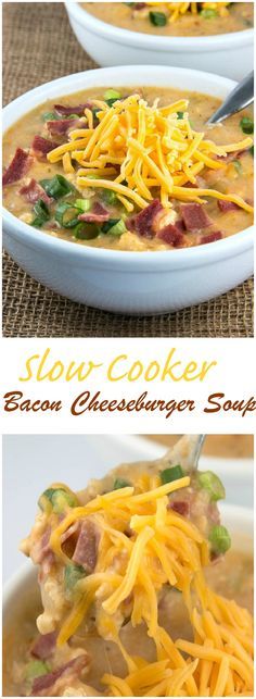 Slow Cooker Bacon Cheeseburger Soup is just like a Big Mac in a bowl without all the calories.
