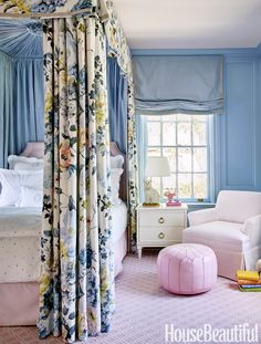 Interior designer and Biscuit Home founder, Bailey McCarthy truly has the most exquisite taste. Teen Girl Bedrooms, Little Girl Rooms, Girls Bedroom Blue, Blue Bedrooms, Beautiful Bedrooms, Beautiful Homes, House Beautiful, Beautiful Kitchen, Master Bedroom
