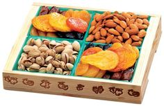 Broadway Basketeers Christmas Fruit and Nut Crate (Medium) Holiday Gift Box