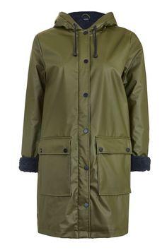 Manteau doublé de peau lainée Ivy Petite