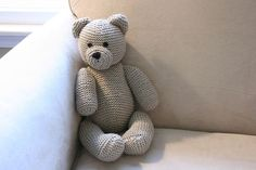 DIY Knitted Teddy Bear - FREE Knitting Pattern / Tutorial