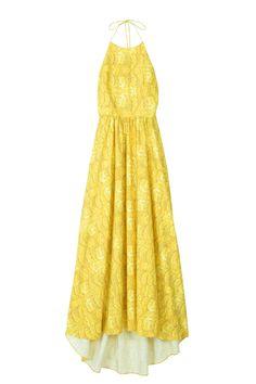 Tibi Ibis floral print yellow dress, picnic style