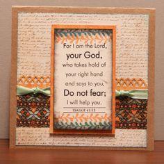 Scripture Encouragement card by Vickie at HeARTful Stamper