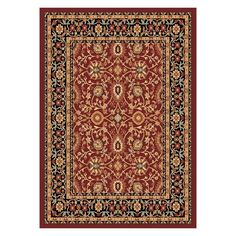 Dynamic Rugs Yazd 2803 Indoor Area Rug Red/Black - YA9122803390
