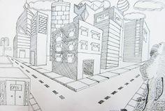 2 Point Perspective Cities - Upper School Art (Grades 7-12)