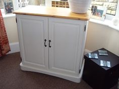 Painted cupboard.  Revamp of wooden unit.