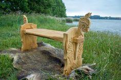 viking carving Wikinger Schnitzerei und Möbel Design by Reiner van Ophuysen Oseberg Style
