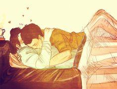 Znalezione obrazy dla zapytania gay anime cuddling