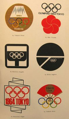 Designs for Tokyo Olympics 1964 (from Parsons School for Design)