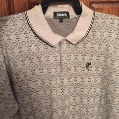 Ashworth golf shirt short sleeve Men's Ashworth XL golf shirt with diamond pattern. Very good condition. Ashworth Tops