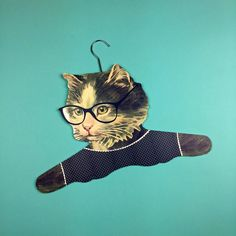 Hang around in style with this cat clothes hanger available from http://ift.tt/1ihQVKN with FREE uk shipping!