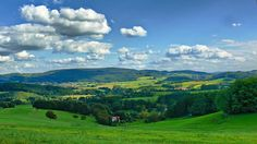 The Odenwald, Germany.  Lovely range of hills near Mannheim/Heidelberg.  Took so many weekend drives, passing through villages and stopping at the bratwurst stand on a curve on a highway, not really near anything at all.