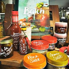 Wood-Fermented Hot Sauce from the book Batch by Joel MacCharles & Dana Harrison. Batch Cooking, Cooking Recipes, Meals In A Jar, Drying Herbs, Christmas Baking, Hot Sauce, Food Storage, Preserves, Authors