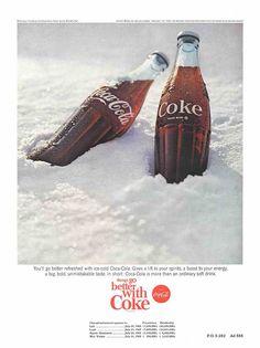 Slideshow: Vintage Coca-Cola Bottle Print Ads: The Coca-Cola Company Vintage Coca Cola, Advertising Photography, Print Ads, Coke, Pop Art, Retro, Drinks, Bottle, David