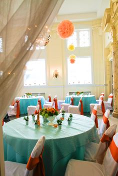 My orange and turquoise wedding day!!! this is perfect. sweet, simple, and unique