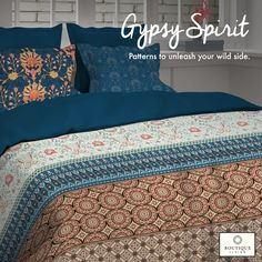 Made from 100% mercerised cotton, #GypsySpirit from #BoutiqueLiving has the trendiest and most fashionable designs!