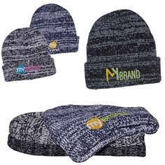 3d1fb66f81e6c Heathered Marbled Knit Beanie with Cuff