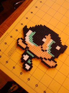 Buttercup Powerpuff Girls Magnet perler beads by PerlerBeadBeauty