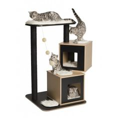 Mueble Rascador para Gatos V-DOBLE VESPER
