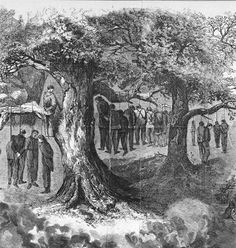 The Great Gainesville Hangings of 1862, when at least 40 men were executed for Pro-Union sympathies following the Slave Insurrection Panic. Another man was killed when a Pro-Confederacy mob rushed the Denton Jail and shot the suspect being held for trial.