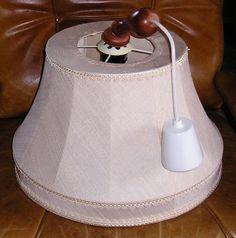 Lampe mit Stoff bezogen Farbe helles beige in Möbel & Wohnen, Beleuchtung, Deckenlampen & Kronleuchter | eBay
