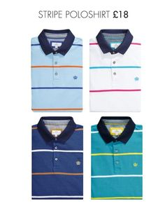 Stripe polo shirts from Next