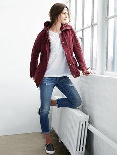 Nylon utility hooded jacket Product Image