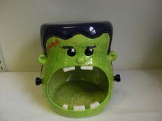 Frankenstein Candy Bowl  - SO CUTE!