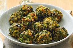 spinach and stuffing balls