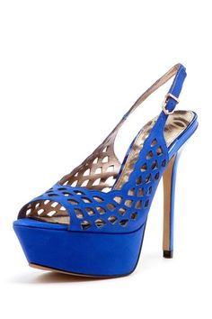 Sam Edelman Myer Slingback Laser Cut High Heel by Find Your Sole Mate on @HauteLook