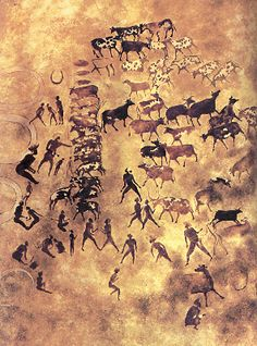 Prehistoric paintings in the central Sahara, some as old as eight thousand years.