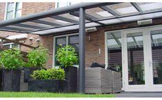 Grey aluminum glass veranda