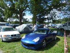 Parked infield of the Porsche Corners in the camping ground at le mans on day 2