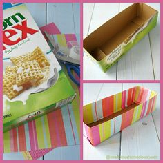 Upcycled Cereal Box Organizer | Club Chica Circle - where crafty is contagious