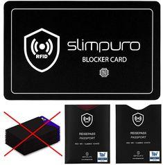 RFID Blocker Störsignal Karte mit 2 x TÜV geprüften RFID Reisepass NFC Schutzhüllen - Eine Einzige Karte schützt Ihre gesamte Geldbörse - Kreditkarte, Personalausweis, EC-Karte, Bankkarte, Ausweis EUR 16,90 Playing Cards, Passport, Viajes, Cards, Game Cards