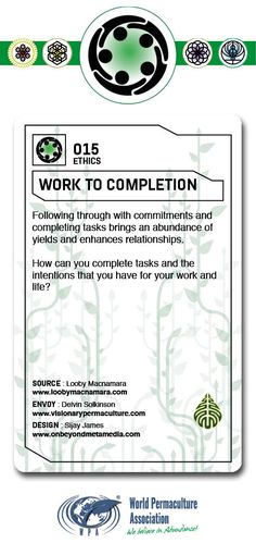 Following through with commitments and completing tasks brings an abundance of yields and enhances relationships.  How can you complete tasks and the intentions that you have for your work and life? Permaculture Design Course, Herb Spiral, Prime Directive, Can You Take, Rainwater Harvesting, Simple Living, Keynote, No Response, Meant To Be