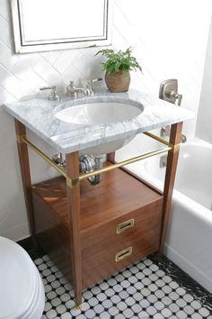 bathroom brass. My Future sink.