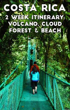 2 week Costa Rica itinerary: adventure at Arenal Volcano, wildlife and hiking at Monteverde Cloud Forest, relaxing beach time at Santa Teresa and more beach and adventure in Guanacaste http://mytanfeet.com/costa-rica-travel-tips/2-week-costa-rica-itinerary/
