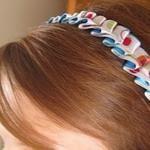 Tutorial: Pleated ribbon headband