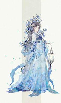 Beautiful Fantasy Art, Beautiful Anime Girl, Chinese Drawings, Anime Kimono, China Art, Anime Outfits, Pretty Art, Anime Art Girl, Japanese Art