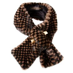 Does it get more decadent? Louis Vuitton Mink Scarf