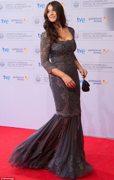 Stunning: As a successful actress Monica is accustomed to looking glamorous on the red carpet at glitzy showbiz events