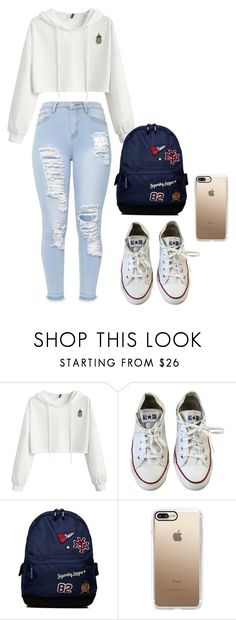 """""""Untitled #24"""" by stogtman on Polyvore featuring Converse, Superdry and Casetify"""