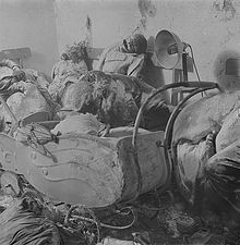 Wir werden nie vergessen! Angehäuft Leichen nach Brandbomben auf Dresden.