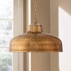 Essex Dyed Brass Metal Pendant Light - #EU4K745 - Euro Style Lighting