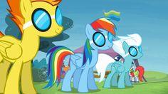 Rainbow Dash, ready for action.
