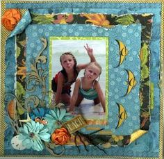 #scrapbook #layout #Hawaii #tropical #beach @Stacy Cohen
