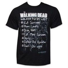 Walking Dead Walker To Do List Shirt